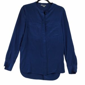 Vince 100% silk navy blouse